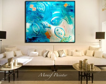 The Jellyfish Dance oil panting on canvas 75 x 70