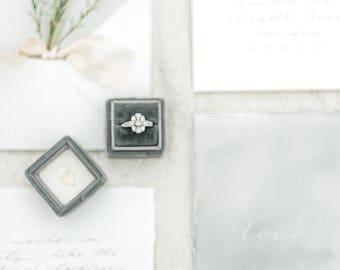 Velvet Ring Box Vintage Style with Monogram - The Mayfair Velvet  Ring Box -
