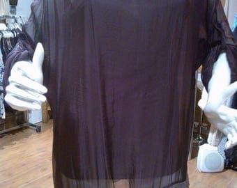 Plum silk tunic