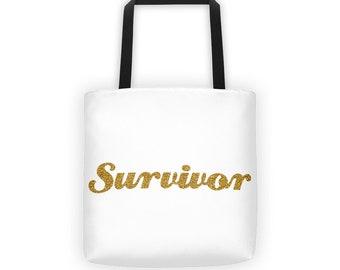 Survivor Large Tote Bag
