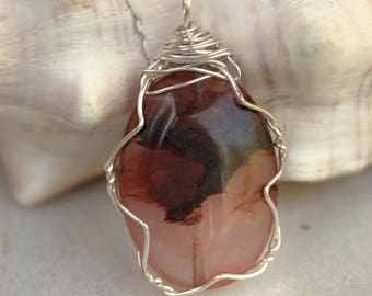 Pink Agate Pendant: Rosewater