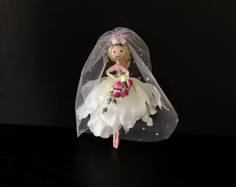 Uniquefairyboutique flower fairy, minature fairy, shades of colour, magical fairy bride, white, keepsake, always and forever, best friend