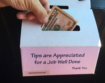 Ridesharing Tip Box Jar Uber Lyft Gratuity Ride Austin Juno Free Shipping