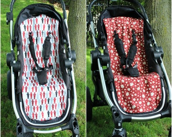 City Select Reversible  Stroller/Pram Liner - Canadian/RCMP Print - Ready to ship!
