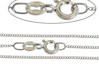 """925 Sterling Silver Fine 1mm Italian made Diamond Cut Curb Chain 16"""" 18"""" 20"""" 22"""" 24"""" Inch, All Sizes, Necklace"""