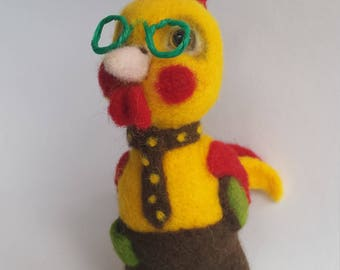 Handmade needle felted chick