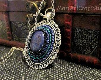 Casual blue tint pendant