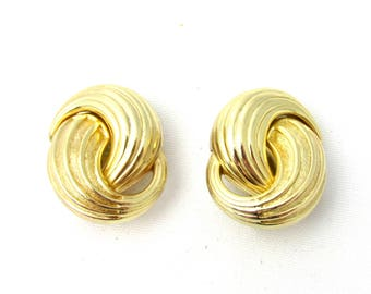 Vintage Christian Dior clip earrings gold
