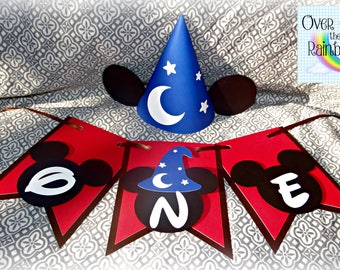 Sorcerer Mickey Mouse Inspired First Birthday Set