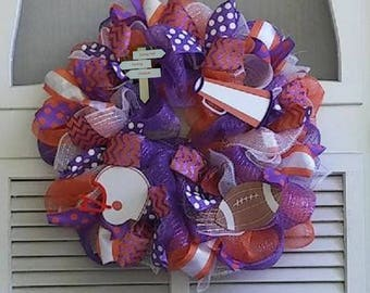 Football Deco Mesh Wreaths