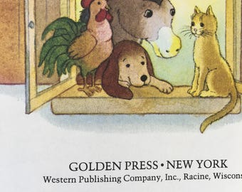 """Musicians of Bremen Little Golden Book by Ben Cruise Copyright 1983 """"C"""" Edition Great Condition #307-47 - Golden Book Luv"""