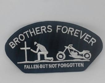Brothers Forever Embroidery iron sew on patch badge
