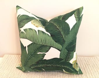 20 x 20 inch Palm Frond Pillow Cover (Indoor/Outdoor)