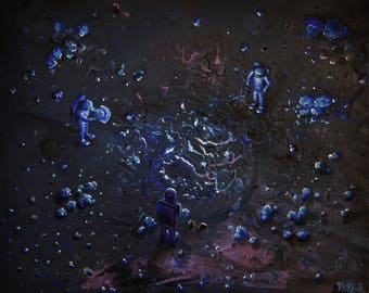 UNEARTHED COLLECTION #1   -  an original Flooko painting on canvas