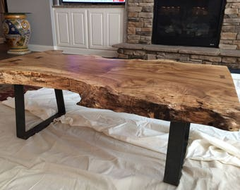Live Edge MyrtleWood Coffee Table