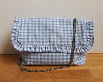 Blue gingham Francy bag