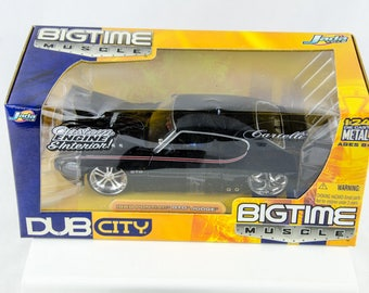 Jada Dub City 1969 Pontiac GTO Judge Black 1/24 Scale Diecast Car
