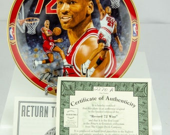 Upper Deck Limited Edition Michael Jordan Record 72 Wins Collectors Plate