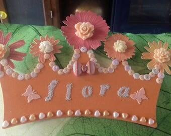 Pretty Flora custom Princess Crown