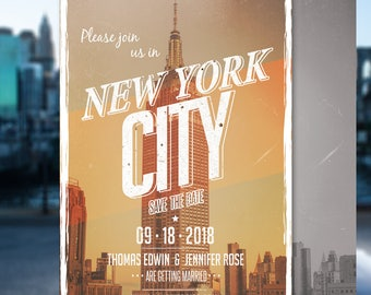 New York Save The Date Postcard