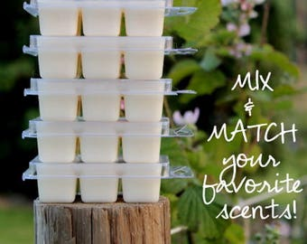 Soy Wax Melts - Set of 5 Packs - All Natural Melts - Mix and Match - Scented Wax Melts - Wax Melts - Melts - 100% Soy Melts - Soy Wax