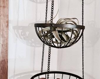 Fruit basket   Suspended basket   Metal hanging basket   Wire basket