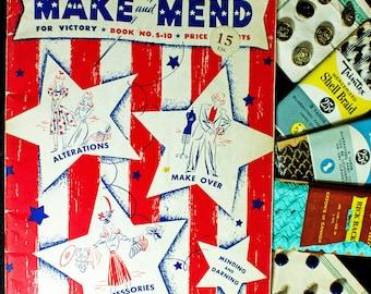RARE Original WWll 1942 Make and Mend For Victory Book
