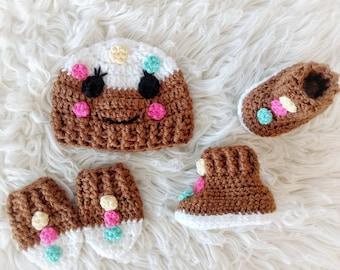 Gingerbread Hat, Gingerbread Photo Prop, Gingerbread, Christmas Hat, Christmas Prop, Christmas Gift, Baby Shower Gift