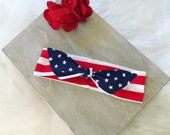 American Flag Headband, July 4th