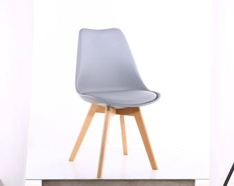 MOF Light Grey Tulip Chair Modern Living Room Dining Room Chair x2, x4