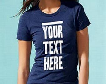 Custom T-Shirt With Text Only