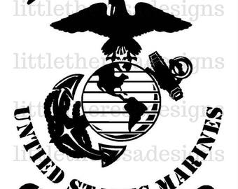 Proud United States Marine Sister Transfer,Digital Transfer,Digital Iron On,DIY
