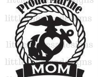 Proud Marine Mom Transfer,Digital Transfer,Digital Iron On,DIY