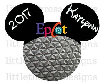 Epcot Family Vacation Transfer,Digital Transfer,Digital Iron On,DIY