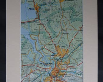 Framed dutch map  Etsy