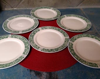 Six Salad Plates/Coventry Blue By Citation