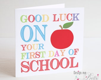 Good Luck on your First Day at School card
