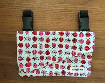 "Cover for baby carrier / Sling / strollers and more ""Ladybug"""