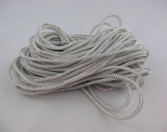 Lurex lezardine colors/white cord