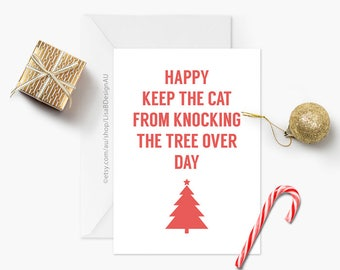 Cat Christmas Card | Cat Lover Card | Merry Christmas | Funny Holiday Card | Happy Holidays | Funny Christmas | Humour Card | GCXCA6016