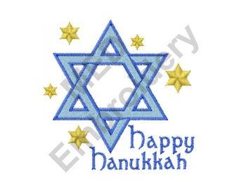 Hanukkah Star Of David - Machine Embroidery Design