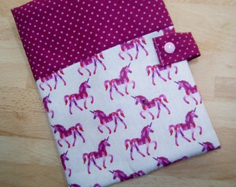 Customizable cotton lined fleece health book