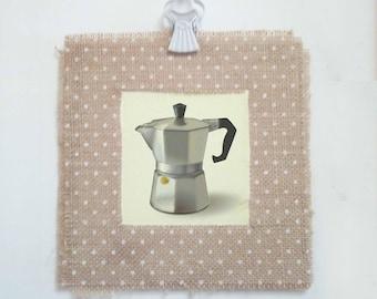 Coffeecup - Shabby chic wall decor, shabby prints, wall art, wall prints, vintage prints, vintage decor   Tropparoba 100% - made in Italy