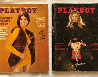 Playboy 1972 October and November