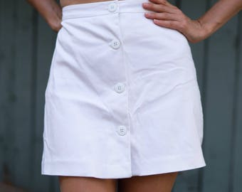 80s 90s Cache White Tennis Skirt Skort Shorts XS Extra Small