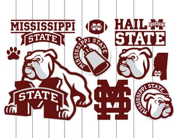 INSTANT DOWNLOAD - Mississippi State Bulldogs Svg, Mississippi State Bulldogs Svg Bundle, Mississippi State Bulldogs Clipart,Mississippi Svg