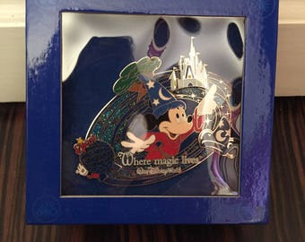 Mickey Disney Pin Where Magic Lives in Case