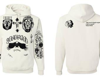 Justin Bieber New Animal Tattoos Unisex  Hoodie Sweatshirt