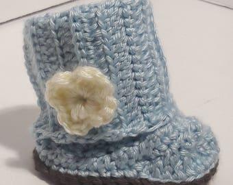 "Handmade Crochet Baby Boots - ""McKenzie"""
