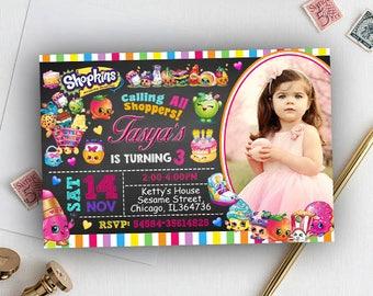 Shopkins Invitation, Shopkins Invite, Shopkins Birthday, Shopkins Birthday Invitation,Shopkins Birthday Party,Shopkins Party,Shopkins Papery